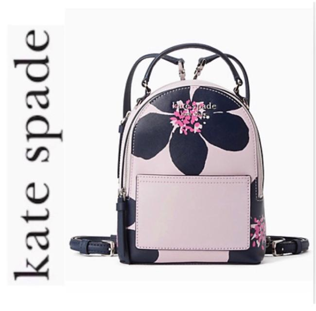 Item - Cameron Grand Flora Mini Pink Leather Backpack