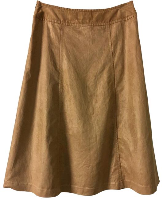 Item - Light Brown Faux Suede Skirt Size 12 (L, 32, 33)