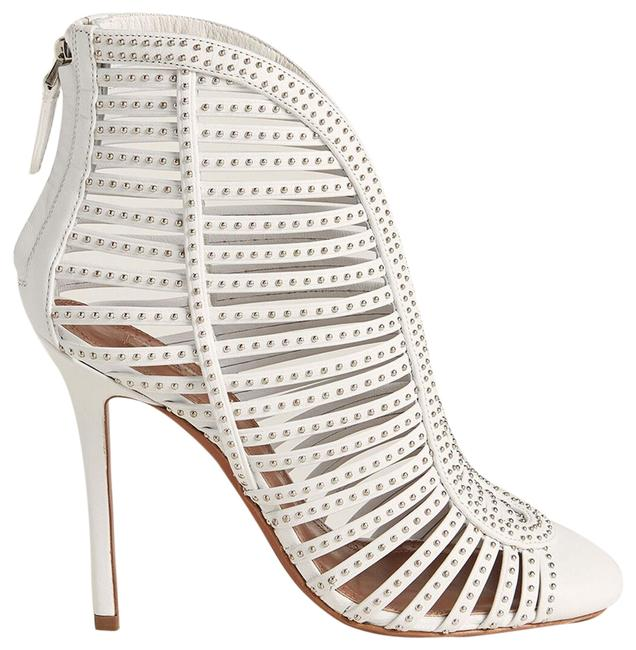 Item - White New Studded Cage Leather Boots/Booties Size EU 37.5 (Approx. US 7.5) Regular (M, B)