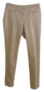 H&M Slacks Brass Buttons Straight Pants Nude