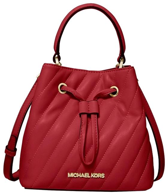 Item - Suri Small Quilted Red Leather Cross Body Bag