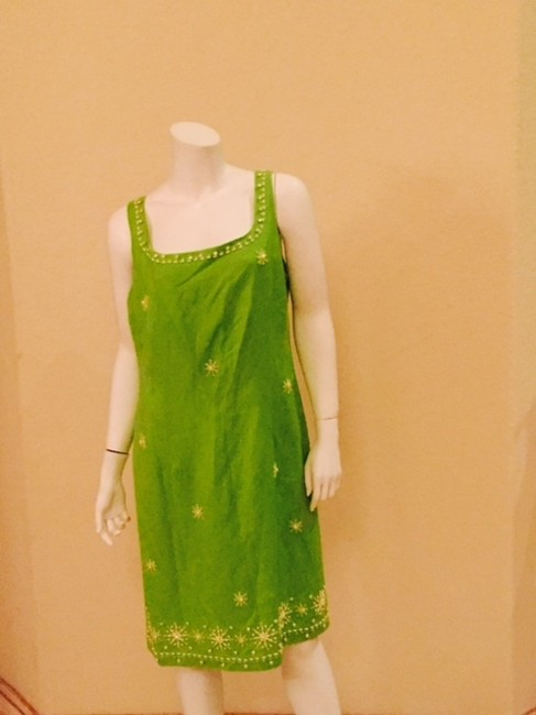 Jessica Howard short dress Lime Green Embroidered Beaded on Tradesy