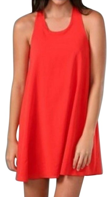 Item - Red Trina Bow Back Tunic Short Casual Dress Size 12 (L)