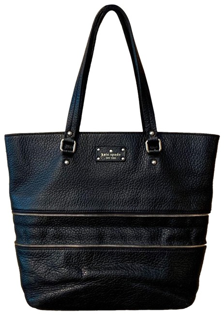 Kate Spade Grove Court Michelle Black Cow Leather Tote Kate Spade Grove Court Michelle Black Cow Leather Tote Image 1