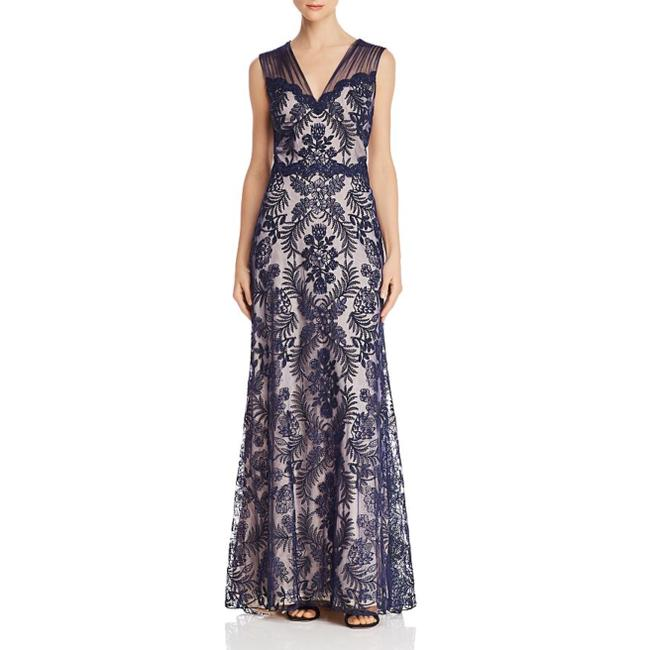 Item - Navy / Petal Gibson Embroidered Lace Long Night Out Dress Size 14 (L)