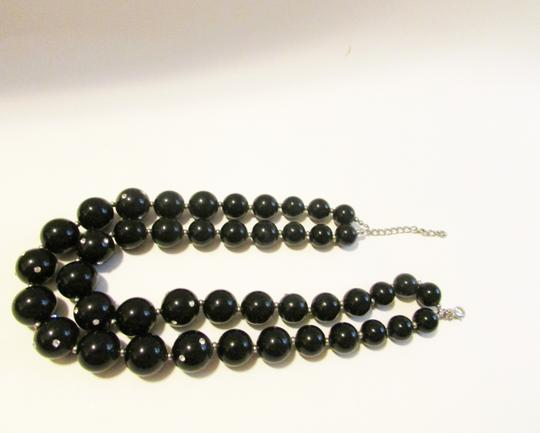 Real Collectibles by Adrienne Real Collectibles Black Necklace with Cystal Accents 18 Inch