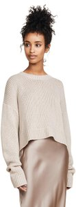 Sablyn Purled Knit Cropped Cashmere Chunky Sweater
