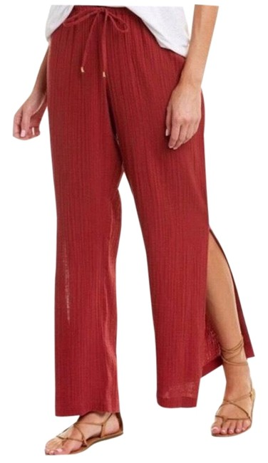 Item - Red Gauze High Pants Size 4 (S, 27)