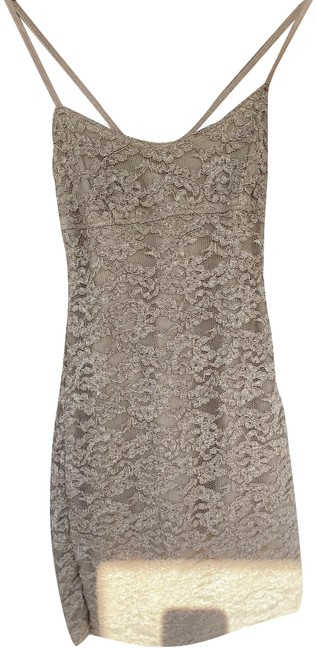 Item - Beige Short Night Out Dress Size 4 (S)