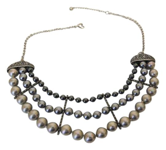 Colleen Lopez Colleen Lopez Fresh Water Pearl and Marcasite Necklace