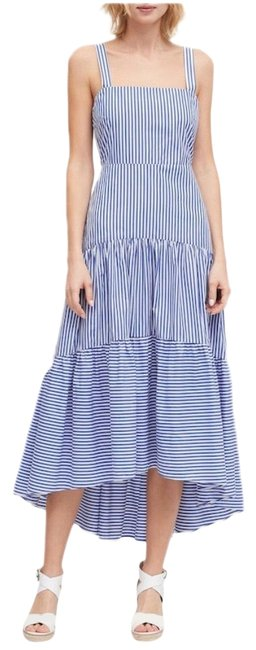 Item - White Poplin Tiered Long Casual Maxi Dress Size 6 (S)