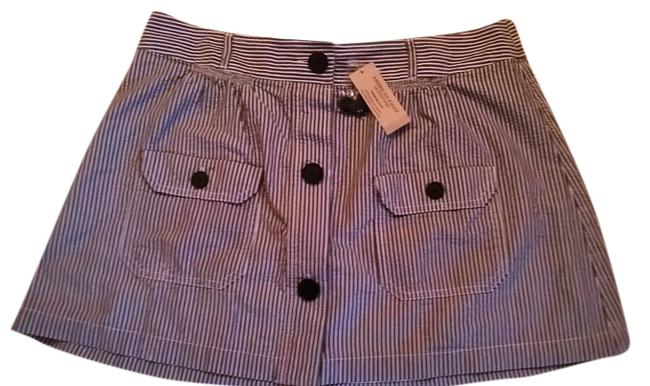 American Eagle Outfitters Mini Skirt Navy blue & White Stripes