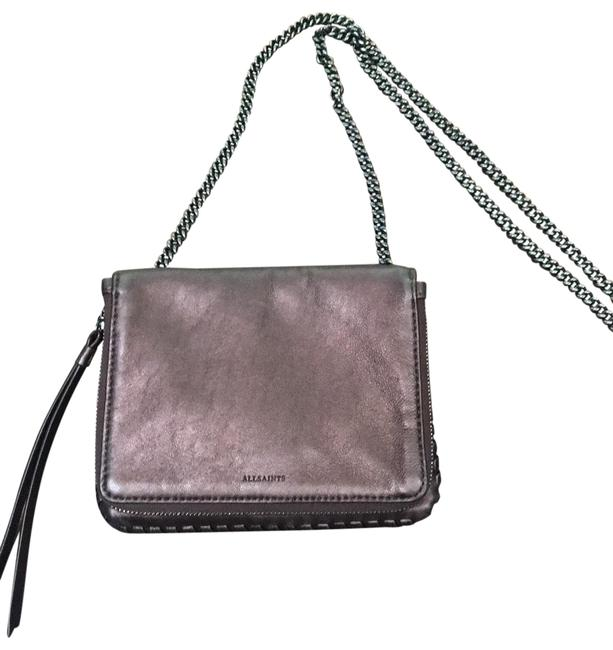Item - With Metal Chain Brown Lambskin Leather Cross Body Bag