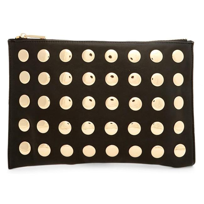 Item - Pipa Pouch- Black Faux Leather Clutch