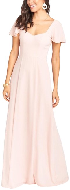 Item - Dusty Blush Crisp Marie Sweetheart Flutter Sleeves Long Casual Maxi Dress Size 8 (M)