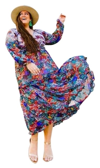 Item - Red Blue Annabella Long Casual Maxi Dress Size 6 (S)