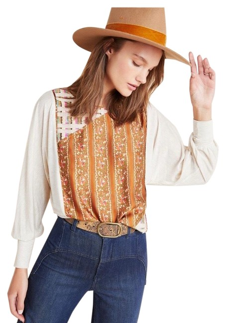 Preload https://img-static.tradesy.com/item/27820618/anthropologie-floral-sequined-blouse-size-8-m-0-1-650-650.jpg