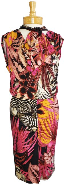 Item - Multicolor Wild Animals Jungle Print Mid-length Night Out Dress Size 4 (S)