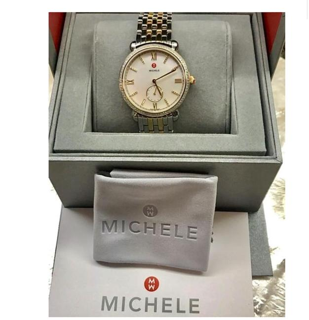 Michele Gold & Silver Gracile Two Tone Diamond Mother Of Pearl Mww26a000003 Watch Michele Gold & Silver Gracile Two Tone Diamond Mother Of Pearl Mww26a000003 Watch Image 1