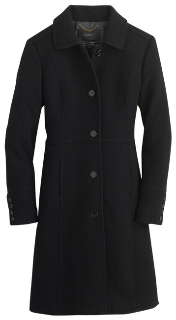 Item - Black Tall Double-cloth Wool Lady Day T14 Thinsulate 49622 Coat Size 14 (L)