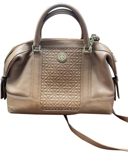 Tory Burch With Removable Shoulder Strap Tan Leather Satchel Tory Burch With Removable Shoulder Strap Tan Leather Satchel Image 1