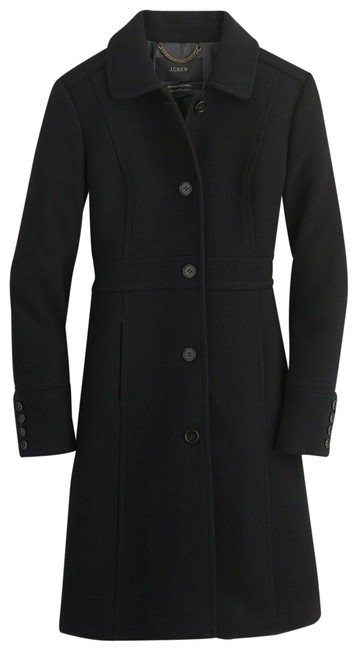 Item - Black Tall Double-cloth Wool Lady Day T10 Thinsulate 49622 Coat Size 10 (M)