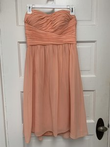 Donna Morgan Peach Feminine Bridesmaid/Mob Dress Size 4 (S)