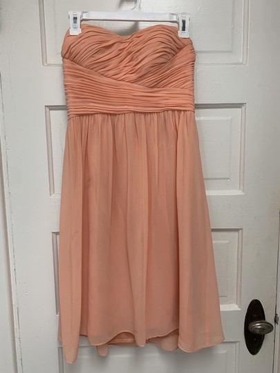 Preload https://img-static.tradesy.com/item/27820812/donna-morgan-peach-feminine-bridesmaidmob-dress-size-4-s-0-0-540-540.jpg