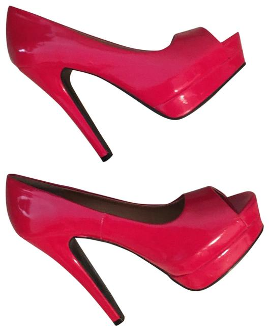 Fire Engine Red Patent Platforms Size US 9 Regular (M, B) Fire Engine Red Patent Platforms Size US 9 Regular (M, B) Image 1