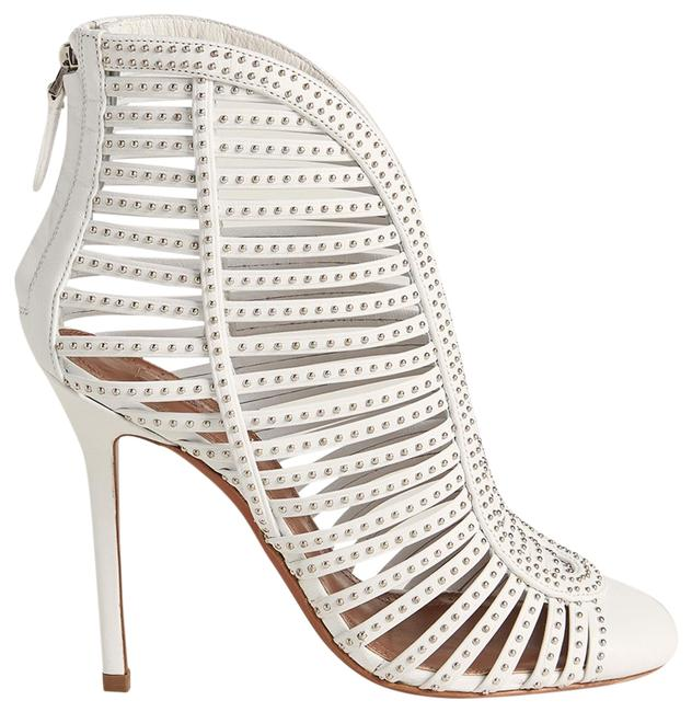 Item - White New Studded Cage Leather Boots/Booties Size EU 38.5 (Approx. US 8.5) Regular (M, B)