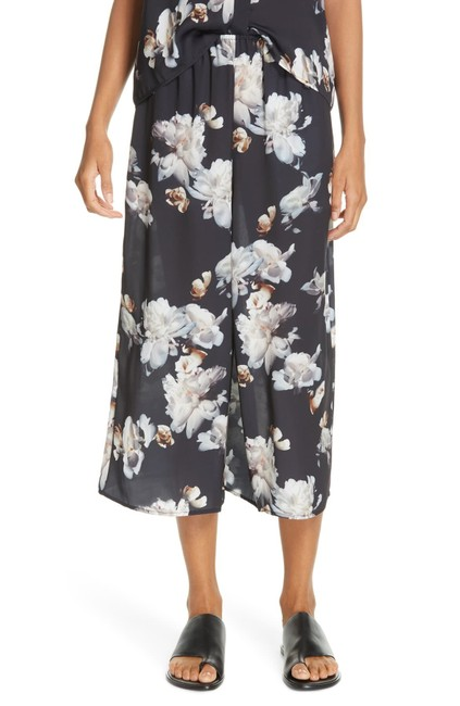 Vince Peony Print Silk Culottes Pants Size 4 (S, 27) Vince Peony Print Silk Culottes Pants Size 4 (S, 27) Image 1