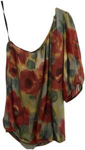Nordstrom Silk Off Sholder Top Multi-Color