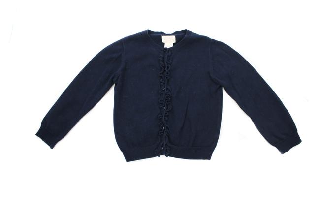 Preload https://img-static.tradesy.com/item/27821042/blue-ruffled-cardigan-size-girl-s-5-years-navy-sweater-0-0-650-650.jpg