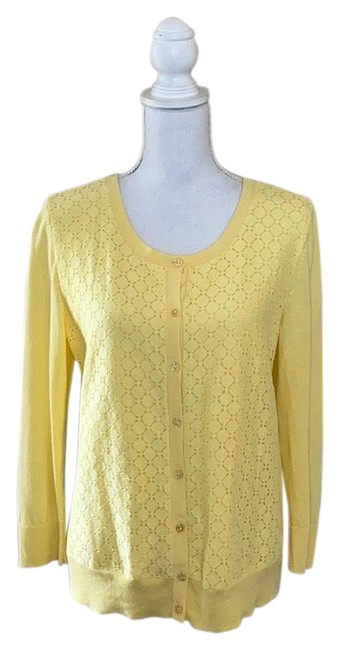 Preload https://img-static.tradesy.com/item/27821079/talbots-cardigan-button-yellow-sweater-0-1-650-650.jpg
