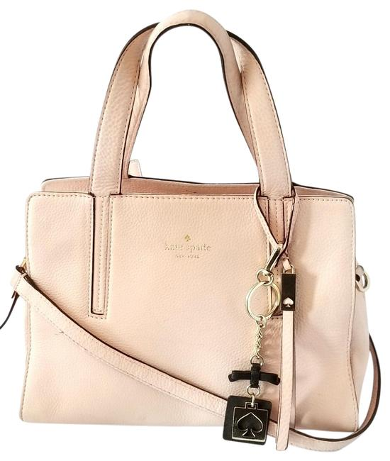 Item - Grey Street and Black Key Chain Pink Leather Satchel