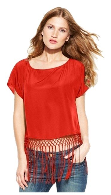 Preload https://item4.tradesy.com/images/michael-michael-kors-short-sleeve-cover-up-or-fringe-crop-blouse-size-petite-6-s-2782123-0-0.jpg?width=400&height=650