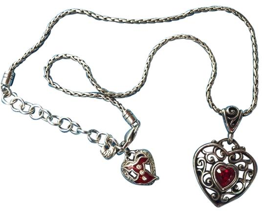 Preload https://img-static.tradesy.com/item/27821269/brighton-silver-and-red-necklace-0-1-540-540.jpg