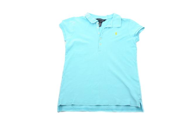 Item - Light Blue Girl Sleeved Polo Girl's Large Tee Shirt Size OS (one size)