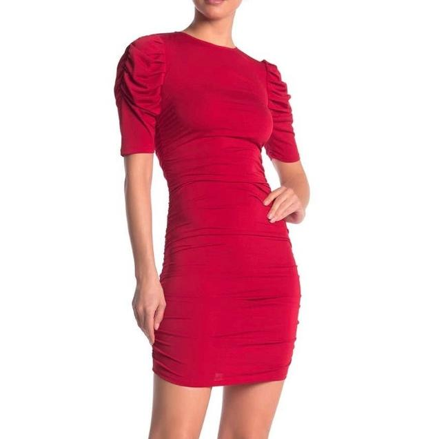 Preload https://img-static.tradesy.com/item/27821288/love-ady-red-jersey-ruched-knit-mini-short-cocktail-dress-size-10-m-0-0-650-650.jpg