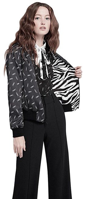 Item - Black/White with Tag Lonnie Reversible Bomber Jacket Size Petite 4 (S)