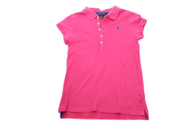 Item - Pink Girl Fuchsia Sleeved Polo Girl's Large Tee Shirt Size OS (one size)