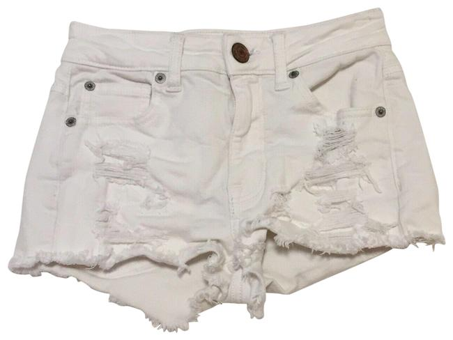 American Eagle Outfitters White Distressed Shorts Size 00 (XXS, 24) American Eagle Outfitters White Distressed Shorts Size 00 (XXS, 24) Image 1