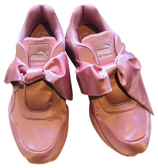 puma fenty pink bow sneakers