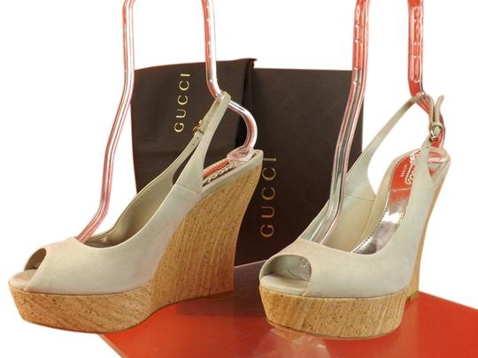 Gucci GRAY Wedges