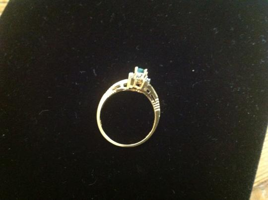 Other SOLID 14karat EMERALD RING with DIAMONDS