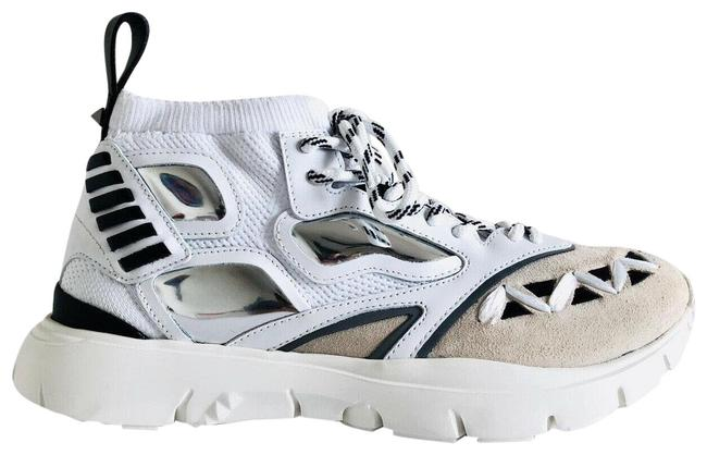 Item - White Garavani Rockstud Heroes Reflex Knitted Men Sneakers Size EU 44 (Approx. US 14) Regular (M, B)