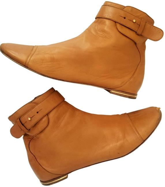 Item - Camel Vintage Lambskin Leather Ankle Boots/Booties Size US 8.5 Regular (M, B)