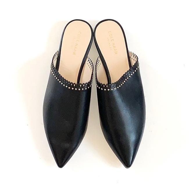 Item - Raelyn Studded Leather Mules/Slides Size US 8 Regular (M, B)