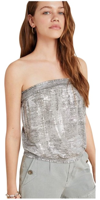 Item - Silver Shimmer Maiah Tube Blouse Size 0 (XS)
