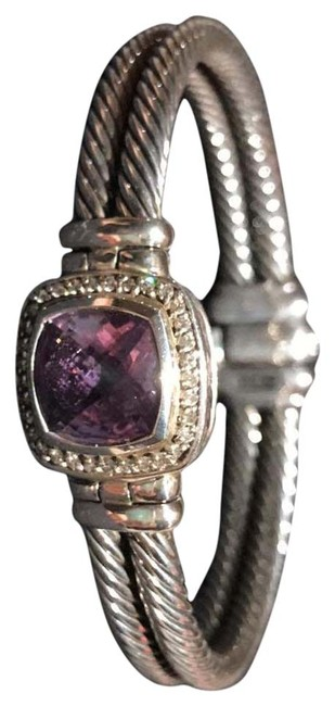 Item - Purple Amethyst & Diamond Albion Bangle Bracelet